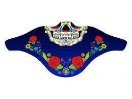 <b>Ветрозащитная</b> маска Funtomask Skull #4 синяя One Size ...