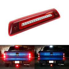 2010 Ford F150 Third Brake Light Red Or Smoked Lens Led High Mount Tail Light Assembly For 2009 14 Ford F150 W Red Halo Led Ring As Tail Lamp White Led As Reverse Clearance Lamp