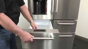 how to removing the pantry doors on your five door kitchenaid cameo refrigerator
