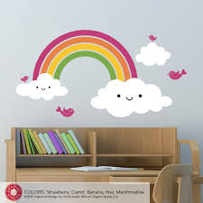 rainbow wall decals together with absorbing