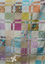 Disappearing 4-Patch With Layer Cakes by ReannaLily Designs & Disappearing 4-Patch with Layer Cakes by Jen Eskridge   Queen Size Quilt    Free Adamdwight.com