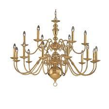 delft 18 light large polished brass chandelier co41718pb