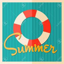 明るい色でミニマリスト スタイル夏デザイン ポスターのイラスト素材