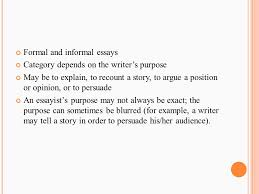 examples of informal essays teachers sample informal essay essay  4 formal and informal