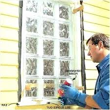 glass block window installation cost glass block window install exteriors glass block window install glass block