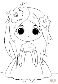 Small Picture Cute Chibi Princess coloring page Free Printable Coloring Pages