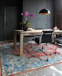 oriental rugs gray wall home office