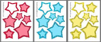 printable star printable hearts stars casual scrapbook frames for photos clip