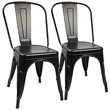 black metal dining chairs.  Metal Amazon Com Furmax Metal Dining Chair Tolix Style Indoor Outdoor For Chairs  Idea 19 With Black G