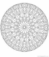 Small Picture Online Mandala Coloring simple Coloring Online Mandala Coloring
