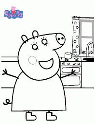 * * * * mummy pig reading a book. Peppa Pig Coloring Pages Coloring Rocks