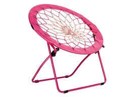 com campzio bungee chair round bungee chair folding comfortable lightweight portable indoor outdoor pink sports outdoors