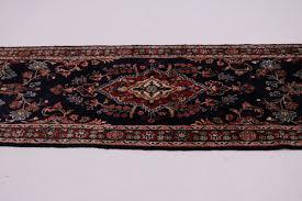 captivating handmade palace runner navy lilian persian rug oriental carpet 3x17