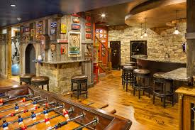 rustic basement design ideas. Rustic Basement Design Ideas With Foosball Table