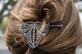 Oberon Design Hair Clips Hair Stick Hair Slide Dragonfly Hair Jewelry Hair