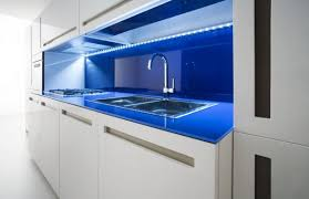 kitchen lighting led kitchen light fixture in blue colors with contemporary cabinets doors in high gloss blue cabinet kitchen lighting