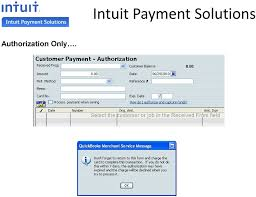 6 authorization only intuit payment solutions