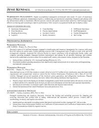 Warehouse manager resume and get inspiration to create a good resume 13