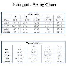 Patagonia Size Chart Bedowntowndaytona Com