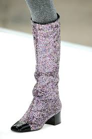 chanel glitter boots. chanel glitter boot fashion boots u