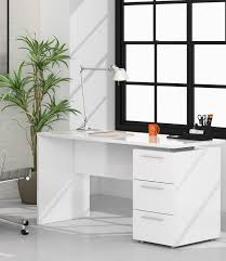 white desk. Adalrik White Gloss Computer Office Desk Table - 2614 . K