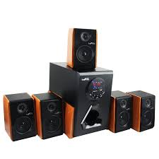 office speaker system. Amazon.com: BeFree Sound Luxury Home And Office 5.1 Channel Surround Bluetooth Speaker System With 5 Speakers, USB Input, FM Radio Wood Finish