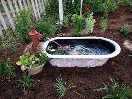 old bathtub garden bathtub water garden