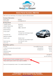 New Quotation Rental Car Manager Knowledge Base