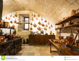 interior view photography. Chenonceaux Castle Interior, View Of Kitchen. Editorial Stock Photo Interior Photography