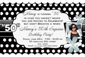Black And White 50th Birthday Invitations Free Printable