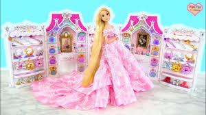 <b>Princess</b> Barbie Rapunzel Elsa Bell Birthday <b>Party Dress</b> Up! Gaun ...