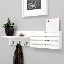 com net sydney wall shelf and mail holder with 3 hooks 24