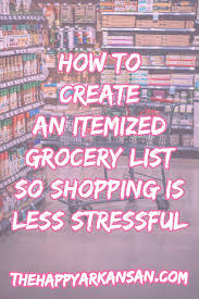How To Make A Grocery List How To Create An Itemized Grocery List So Shopping Is Less