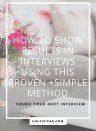 Sar Method Interview Tip Show Results With This Proven Method