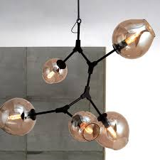 lindsey adelman 6 lights branching bubble glass with regard to elegant household bubble glass chandelier ideas