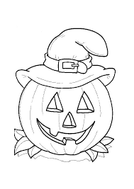 Small Picture Halloween Coloring Page Preschool Halloween Coloring Pages