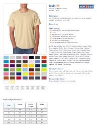 Jerzees Heavyweight Blend Size Chart Jerzees T Shirts Size Chart Arts Arts