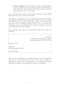 Do You Need An Address On A Cover Letter Cover Letter Guide