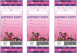 Invitation Ticket Template 100th Birthday Ideas Birthday Invitation Ticket Template 27