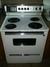 vintage ge stove vintage g e electric stove sensi temp p7 oven cleaning model nice working