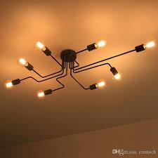 personality ceiling lamp led kitchen lighting flush mount ceiling lights led long iron crystal ceiling lights lamp customization pendant lamp holder diy