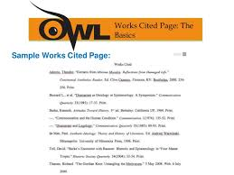 How Do You Do A Works Cited Page How To Write A Works Cited Page For An Anthology Of Big