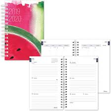 Monthly Academic Calendar Dominion Blueline Inc Rediform Watercolor Design Cover Academic Planner Yes Weekly Monthly 1 1 Year January Till December 1 Week 1 Month