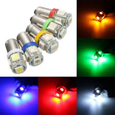 5 Light Bulb Lamp Car 12v 5 Smd Led Ba9s T4w W5w T10 Indicator Light Bulb Lamp 5 Color