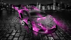 lamborghini aventador crystal abstract car