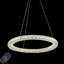 modern ring crystal ceiling pendant