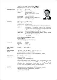 English Cv Template 9 Resume Format Download Working Papers English