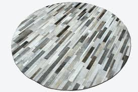 black and white circle rug gray brown white round patchwork rug soft cowhide skin leather carpet