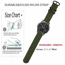Gear S2 Band Size Chart Details About 20 22mm Quick Release Nylon Canvas Fabric Band Strap For Samsung Gear S2 S3