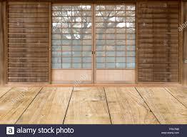 Japanese Sliding Door Design Japanese Style Sliding Door In Traditional House Stock Photo